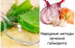 Гайморит: лечение народными средствами